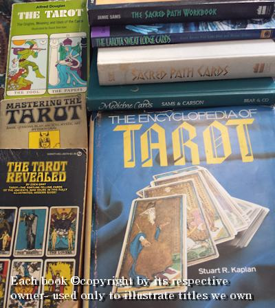 picture of books on tarot