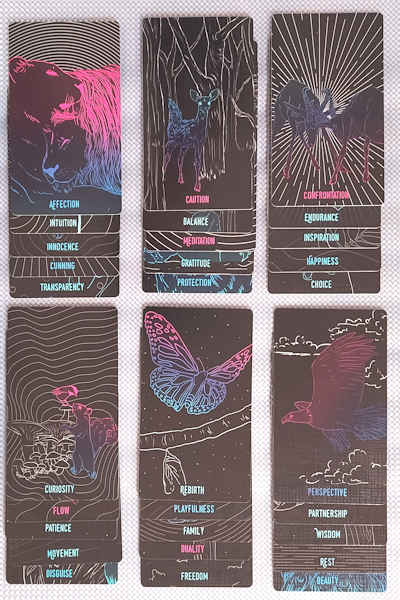 a selection of cards
